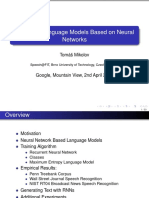 Statistical Language Models Based on Neural Networks