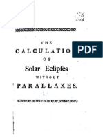 The Calculations of Solar Eclipses Without Parallaxes, Whiston