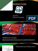 Hidrociclones y Centrifugadora