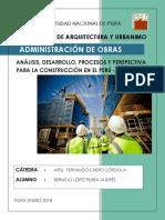 Análisis, Desarrollo, Procesos y Perspectiva Para La Construcción en El Perú - Piura.