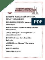 Metodos y Tecnicas de Aprendizaje- Monografia
