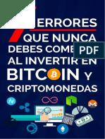 7 Errores Que Nunca Debes Cometer Al Invertir en Bitcoin Y Criptomonedas - CriptoNetwork