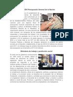DEFINICIÓN Presupuesto General de La Nación Ministerio de Trabajo y Prediccion Social, Constitucion de La Republica y Su Historia