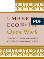 Eco Umberto the Open Work