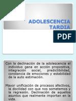 ADOLESCENCIA TARDIA