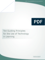 Ten Guiding Principles for Use of Technology in Learning