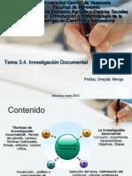 97743440 Clase 3 4 Investigacion Documental