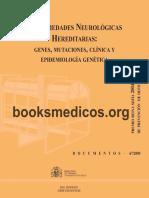 Enfermedades Neurológicas Hereditarias. Genes, Mutaciones, Clínica y Epidemiología Genética - VV. AA.