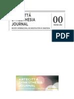 Revista Artecittà Synesthesia Journal