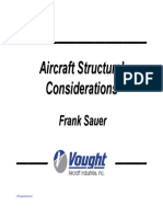 Aircraft Structural Considerations Fall 2008