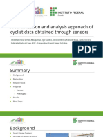 A Visualization and Analysis Approach of Cyclist Data Obtained Through Sensors