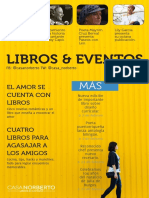 Calendario Cultural Casa Norberto, Libros & Cafébar