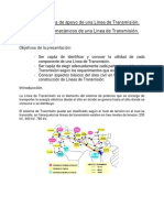 Estructuras de Apoyo de Una Línea de Transmisión(Mi Parte)PDF