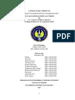 Laporan Observasi Diagnosis Alat Berat AB 1