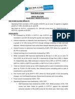 Press Release q1 Fy11