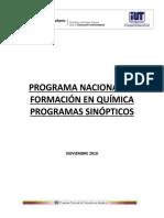 Documento Rector Quimica