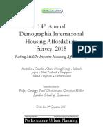 14th Annual Demographia International Housing Affordability Survey