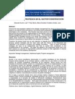 Paper La Gestión Estratégica en El Sector Construcción