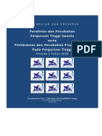 Persyaratan Dan Prosedur Pendirian PTS Dan Pembukaan Prodi PT 20181(1)