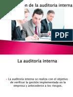 Implantación de La Auditoria Interna