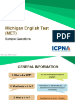 MET Sample Questions 201708