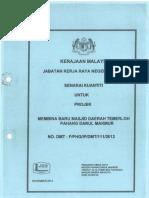 Biil of Quantity Membina Baru Masjid Temerloh, Pahang