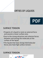 Properties of Liquids