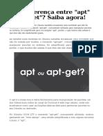 Qual Diferença Entre Apt e Apt-get Saiba Agora