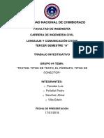 Trabajo Investigativo Lenguaje Texto