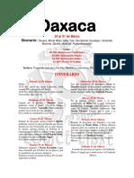 Itinerario Oaxaca Marzo 2018