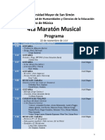 Programa 4ta Maratón 2017 Oficial