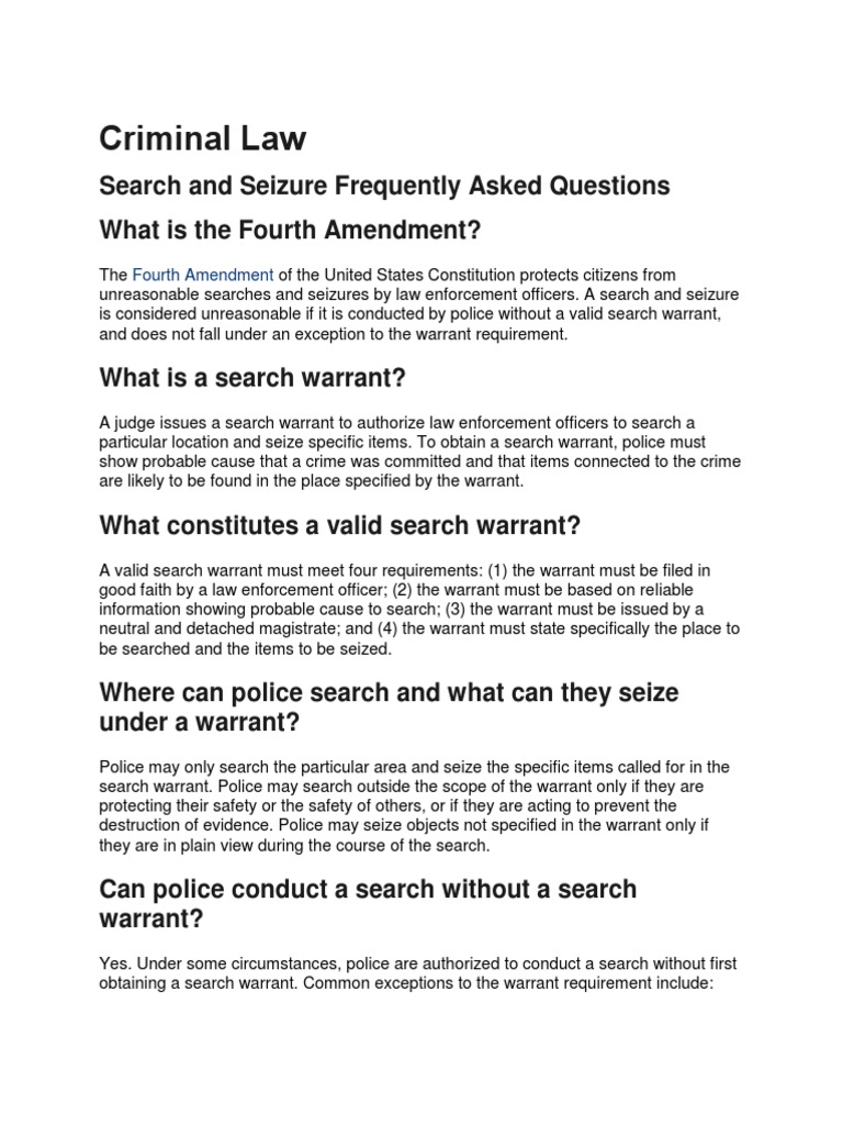 The Fourth Amendment: Protecting Your Privacy