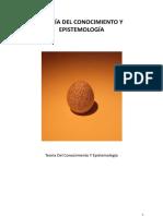 Teoria Del Conocimiento y Epistemologia