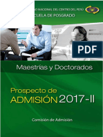 Prospecto Posgrado 2017-II