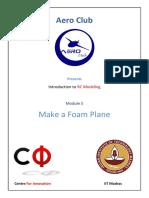 AeroClub Module5 Make a Foam Plane