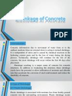 Shrinkage of Concrete