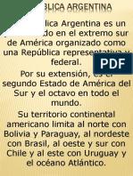 Reseña Histórica y Cultural de La Argentina
