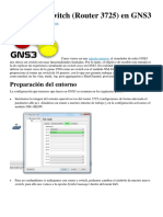 Simulando Switch (Router 3725) en GNS3