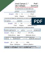 Ecuaciones de Formacion u Obtencion de Las Sustancias Quimicas