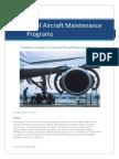 Aircraft Maintenance Programs