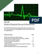 Fall 2017 HUCM MED Student Newsletter