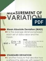 Measurement of Variation