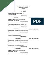 OSG Memorandum on Martial Law Extension Petitions