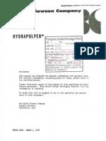 Hydrapulper Instruction Manual