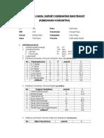 Tabulasi Hasil Survey Kesehatan Masyrakat Kelompok 2 Benar