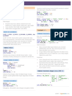 Cheat Sheet PHP Variable Dan Constant