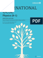 Edexcel IGCSE Physics Specification