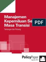 Manajemen Kepemiluan Selama Masa Transisi Tantangan Dan Peluang (1)