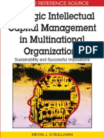 Strategic Intellectual Capital Management in Multinational Organizations Sustainability and Successful Implications