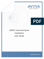 Aveva Instrumentation Installation User Guide